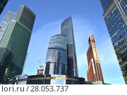 Moscow International Business Center (MIBC). Federation Towers, complex of two skyscrapers, Mercury City Tower and Eurasia Tower (2018 год). Редакционное фото, фотограф Валерия Попова / Фотобанк Лори