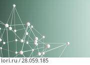 Купить «Plexus background with lines and spheres», иллюстрация № 28059185 (c) Кирилл Черезов / Фотобанк Лори