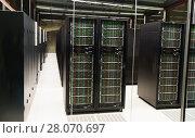 Купить «Equipment of supercomputing center», фото № 28070697, снято 15 января 2018 г. (c) Яков Филимонов / Фотобанк Лори