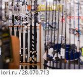 Купить «Picture of quality fishing rods for fishing», фото № 28070713, снято 16 января 2018 г. (c) Яков Филимонов / Фотобанк Лори