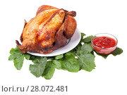 Купить «grilled chicken isolated», фото № 28072481, снято 13 января 2006 г. (c) Myroslav Kuchynskyi / Фотобанк Лори