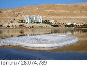 Купить «Утро на курортах Мертвого моря в Неве Зоар - Ейн Бокек», фото № 28074789, снято 23 февраля 2018 г. (c) Irina Opachevsky / Фотобанк Лори