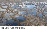 Купить «Flight above the swamp, top view», видеоролик № 28084557, снято 20 сентября 2017 г. (c) Владимир Мельников / Фотобанк Лори
