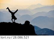 Купить «Dynamic,energetic and crazy climber», фото № 28086521, снято 24 июля 2019 г. (c) easy Fotostock / Фотобанк Лори