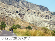 Купить «Vardzia cave monastery, Georgia», фото № 28087917, снято 23 сентября 2017 г. (c) Андрей Пожарский / Фотобанк Лори