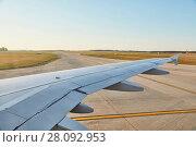 Купить «Plene at takeoff», фото № 28092953, снято 21 ноября 2018 г. (c) easy Fotostock / Фотобанк Лори