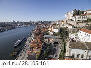 Купить «Cityscape in Porto, Portugal. View from the top of the Luis I bridge.», фото № 28105161, снято 8 января 2018 г. (c) age Fotostock / Фотобанк Лори