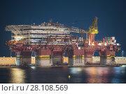 Купить «Petrobras oil platform docked at Tenerife port.», фото № 28108569, снято 14 августа 2016 г. (c) easy Fotostock / Фотобанк Лори