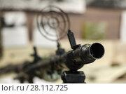 Купить «Ствол пулемета», фото № 28112725, снято 7 декабря 2015 г. (c) Яковлев Сергей / Фотобанк Лори