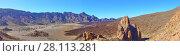 Купить «Desert in highland of Tenerife», фото № 28113281, снято 10 декабря 2017 г. (c) Роман Сигаев / Фотобанк Лори