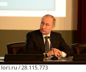 Купить «Президент Российской Федерации Владимир Владимирович Путин», фото № 28115773, снято 28 февраля 2018 г. (c) Free Wind / Фотобанк Лори
