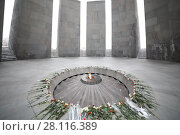 Купить «YEREVAN, ARMENIA - JAN 5, 2017: Memorial complex Tsitsernakaberd, dedicated to genocide of armenians in 1915», фото № 28116389, снято 5 января 2017 г. (c) Losevsky Pavel / Фотобанк Лори