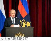 Президент Российской Федерации Владимир Владимирович Путин (2018 год). Редакционное фото, фотограф Free Wind / Фотобанк Лори