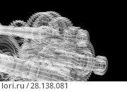 Купить «Gears, shafts and bearings. X-ray render», иллюстрация № 28138081 (c) Кирилл Черезов / Фотобанк Лори