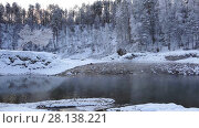 Купить «Video of Blue Lakes on Katun river in Altai mountains in winter season», видеоролик № 28138221, снято 30 января 2017 г. (c) Serg Zastavkin / Фотобанк Лори
