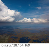 Купить «Бескрайние болота Югры», фото № 28154169, снято 29 августа 2017 г. (c) Владимир Мельников / Фотобанк Лори