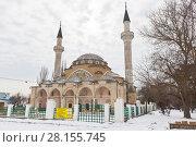 Купить «Мечеть Джума Хан Джами в Евпатории, Крым», фото № 28155745, снято 28 февраля 2018 г. (c) Николай Мухорин / Фотобанк Лори
