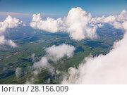 Купить «View of a cumulus clouds from above», фото № 28156009, снято 29 июля 2017 г. (c) Владимир Мельников / Фотобанк Лори