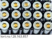 Купить «Патроны для травматического пистолета», фото № 28163857, снято 10 марта 2018 г. (c) Роман Рожков / Фотобанк Лори
