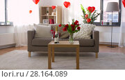 Купить «living room or home decorated for valentines day», видеоролик № 28164089, снято 18 февраля 2018 г. (c) Syda Productions / Фотобанк Лори
