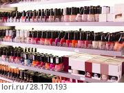 Купить «variety of colorful nail varnishes», фото № 28170193, снято 31 января 2018 г. (c) Яков Филимонов / Фотобанк Лори