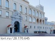 Купить «MONTE CARLO, MONACO - AUG 3, 2016: Princes Palace of Monaco, residence of Princes of Monaco, initially, Genoese fortress, built in 1191», фото № 28170645, снято 3 августа 2016 г. (c) Losevsky Pavel / Фотобанк Лори