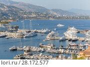 Купить «Panorama of La Condamine and Monte Carlo from lookout near Monaco», фото № 28172577, снято 3 августа 2016 г. (c) Losevsky Pavel / Фотобанк Лори
