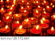 Купить «Burning church candles», фото № 28172661, снято 28 февраля 2018 г. (c) Роман Сигаев / Фотобанк Лори