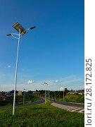 Купить «Public lighting, Jamil Nasser Highway, MG-450, 2017, Guaxupé, Minas Gerais, Brazil.», фото № 28172825, снято 9 декабря 2017 г. (c) age Fotostock / Фотобанк Лори