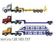 Купить «Vector spec trucks set template isolated on white», иллюстрация № 28183737 (c) Александр Володин / Фотобанк Лори