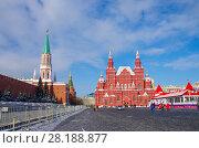 Купить «Москва. Красная площадь. Исторический музей», фото № 28188877, снято 27 февраля 2018 г. (c) Natalya Sidorova / Фотобанк Лори