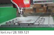 Купить «CNC milling or drilling machine», фото № 28189121, снято 6 июля 2020 г. (c) Константин Шишкин / Фотобанк Лори