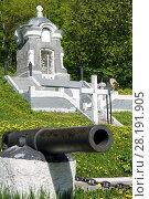 """Купить «Памятник """"Часовня"""", сооруженный в честь успешной обороны Петропавловска от нападения англо-французской эскадры в 1854 году», фото № 28191905, снято 16 июня 2017 г. (c) А. А. Пирагис / Фотобанк Лори"""