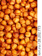 Купить «Spicy baked chickpeas. A moreish vegan snack, flavoured with smoked paprika, cumin and coriander.», фото № 28202773, снято 15 марта 2018 г. (c) Евгений Глазунов / Фотобанк Лори
