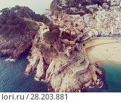Купить «Aerial view of Tossa de Mar, Spain», фото № 28203881, снято 21 января 2018 г. (c) Яков Филимонов / Фотобанк Лори