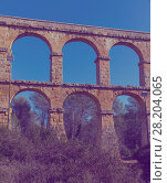 Les Ferreres Aqueduct, Tarragona, Spain (2018 год). Стоковое фото, фотограф Яков Филимонов / Фотобанк Лори
