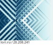Купить «Abstract blue cg background, geometric», иллюстрация № 28208241 (c) EugeneSergeev / Фотобанк Лори
