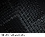 Купить «Abstract black background, geometric 3d», иллюстрация № 28208269 (c) EugeneSergeev / Фотобанк Лори