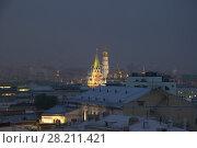 Купить «Tower of Kremlin and belltower Ivan Great with illimination at night in Moscow, Russia», фото № 28211421, снято 26 июля 2016 г. (c) Losevsky Pavel / Фотобанк Лори