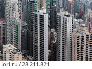 Купить «Skyscrapers and modern tall residential buildings in Hong Kong, China at evening, view from Queen Garden», фото № 28211821, снято 4 сентября 2015 г. (c) Losevsky Pavel / Фотобанк Лори