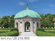 Купить «Храм Дианы в парке Хофгартен в Мюнхене, Германия», фото № 28216905, снято 29 мая 2017 г. (c) Михаил Марковский / Фотобанк Лори