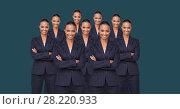 Купить «Clone women folding arms», фото № 28220933, снято 20 марта 2019 г. (c) Wavebreak Media / Фотобанк Лори