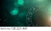 Astrology zodiac with green light sparkles. Стоковое фото, агентство Wavebreak Media / Фотобанк Лори