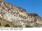 Купить «Cave monastery Vardzia, Georgia», фото № 28223129, снято 9 октября 2017 г. (c) Boris Breytman / Фотобанк Лори