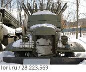 """Купить «Знаменитая """"Катюша"""". Реактивная система залповой артиллерии БМ-13 образца 1941 года», фото № 28223569, снято 25 марта 2018 г. (c) Наталья Николаева / Фотобанк Лори"""