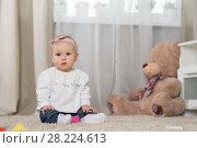 Купить «Baby eight months», фото № 28224613, снято 6 февраля 2018 г. (c) Типляшина Евгения / Фотобанк Лори