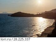 Gaeta sunset beach, Latina, Lazio, Italy (2017 год). Стоковое фото, фотограф Юрий Брыкайло / Фотобанк Лори
