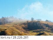 Купить «Autumn Carpathian mountains, Ukraine», фото № 28226281, снято 18 октября 2017 г. (c) Юрий Брыкайло / Фотобанк Лори