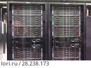 Купить «Closeup of supercomputer in Barcelona Supercomputing Center», фото № 28238173, снято 16 января 2018 г. (c) Яков Филимонов / Фотобанк Лори