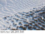 Купить «Сугробы на берегу реки», фото № 28241541, снято 21 октября 2016 г. (c) Владимир Мельников / Фотобанк Лори